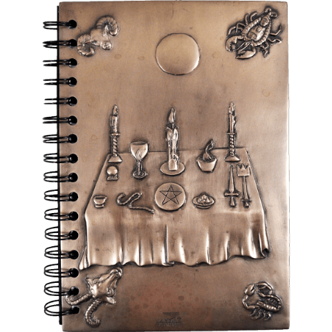 Witchcraft Notebook In Cold Cast Bronze